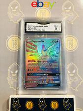Sigilyph GX 222/214 - 9 MINT GMA Graded Hyper Secret Rare Holo Pokemon Card