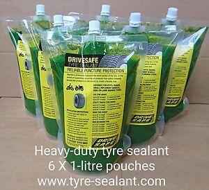 Tire / tyre sealant heavy duty lawnmower, atv, quad tyres x6-litres