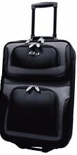 """US Traveler Black New Yorker 21"""" Carry on Rolling Luggage Expand Suitcase Bag"""