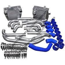 CXRacing SM Intercooler Kit For Mitsubishi 3000GT VR4 Dodge Stealth TD04 Blue