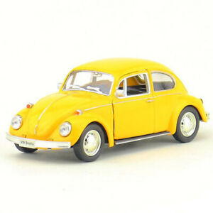 1:36 Vintage VW Beetle 1967 Model Car Diecast Gift Toy Vehicle Pull Back Yellow