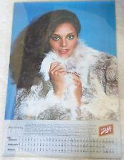Schlitz Beer / Vintage 1981 Sexy Jayne Kennedy Calendar Poster Man Cave Mint