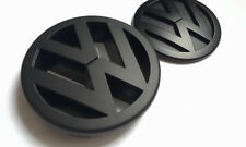 VW FULL MATT BLACK FRONT GRILL+REAR BOOT BADGE VOLKSWAGEN POLO 9N 9N3 GTI TDI