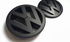 VW Full Matt Black Griglia frontale + posteriore avvio Badge VOLKSWAGEN POLO 9N 9N3 GTI TDI