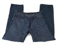 Levis 569 Mens Jeans W36 L36 Loose Straight Leg Medium Blue Denim Wash Cotton (