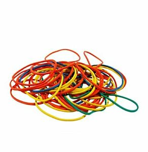 500 x Strong Elastic Rubber Bands Home School Office Work Money Mixed Sizes