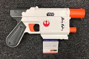 "1210C41 Daisy Ridley Signed STAR WARS TFA Rey Hasbro Blaster Pistol 13"" PSA/DNA"