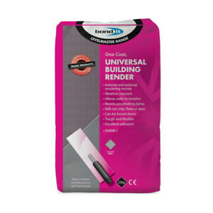 Bond It Pre-Mixed Universal External Waterproof Render Sand Cement Lime Blended