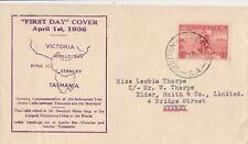 Stamp Australia 2d red Tasman issue on Gower cachet FDC Centennial Exhibition
