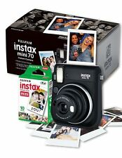 Fuji Instax Mini 70 Instant Camera - Black inc 10 Shots (FUJ1632) Tracked