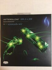 Green Afterglow Nintendo Wii Deluxe Controller + Nunchuck bundle - AW.1 + AW.2