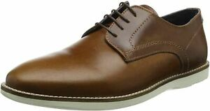 Mens Leather Casual Lace Shoes Red Tape Tatton Derby Dress Brown