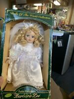 Porcelain Bride Doll Never Removed From Box Limited Edition Barbara Lee.