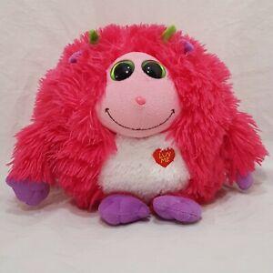 "Trixie  Monstaz TY Luv Me Pink Plush Stuffed Animal 6"" 2012 Makes Noise"