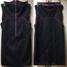 Marc New York by Andrew Marc Women's Mini Dress Zip Front Strapless Black sz 4