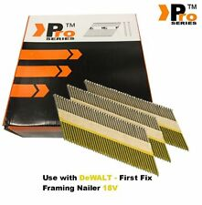 Framing Nails Clipped D-head 2k Nails for Dewalt 18v Cordless First Fix 2000 X 90mm Galvanised Ring