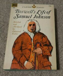 1969 LIFE OF SAMUEL JOHNSON James Boswell Dell Laurel Classic Paperback