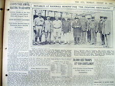 1917 newspaper 1st PROFESSIONAL BASEBALL GAME PLAYED ON SUNDAY in NEW YORK CITY