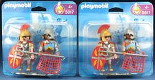 2x Playmobil 5817-Romains-tribun et gladiateur - 2006-NEUF & neuf dans sa boîte-New En parfait état, dans sa boîte scellée