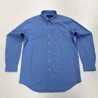 Ralph Lauren Men's Classic Fit Performance Shirt In Blue Size L