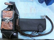 Western Leather Wallet, Holster, Leather Chain, Connector