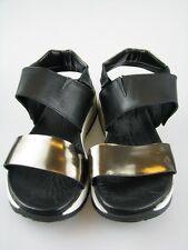 Daniel Hechter HJ7982-1 Damen Sandale schwarz Leder Gr.37
