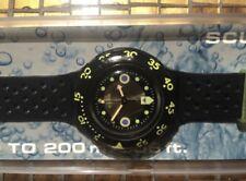 Vintage 1991 Swatch Watch SHAMU BLACK WAVE SDB102  Scuba Orologio Reloj
