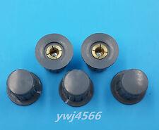 5Pcs Ribbed Grip 4mm Split Shaft Potentiometer Control Knobs Gray
