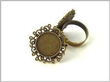 2 Ringrohlinge bronze verziert Ring Rohling