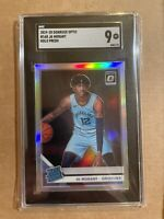 2019 PANINI DONRUSS OPTIC JA MORANT OPTIC HOLO ROOKIE #168 SGC 9 MINT!