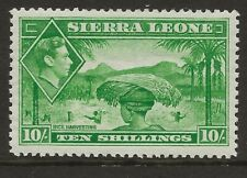 SIERRA LEONE  SG 199  1938 GVI 10/-   UNMOUNTED MINT