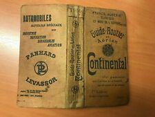 Guide Routier et Aérien Continental (no Michelin) - 1910 France Algérie Tunisie