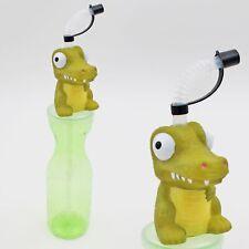 Children's 500ml Plastic Bottle with Flexi Straw and Dinosaur Head - Diplodocus