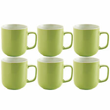 Set di 6 VERDE BRILLANTE STONEWARE 14oz Tè Caffè HOT cioccolato bevande TAZZE TAZZE