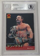 Don Frye Signed 2000 Bandai New Japan Pro Wrestling Card 39 BAS COA Pride FC UFC