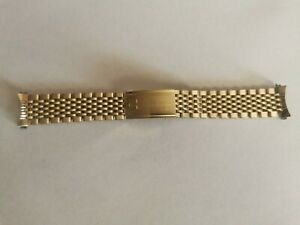 VINTAGE OMEGA SEAMASTER OR CONSTELLATION 19MM GOLD PLATED WATCH BAND