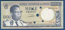 1000 Francs 1964. Banque Nationale du CONGO, banknotes !