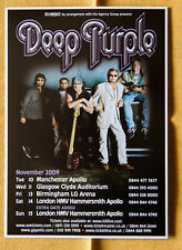 DEEP PURPLE 2009 uk tour 15x20 cm rare flyer mini poster hard rock London and +