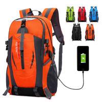 Hiking Skiing Backpack Outdoor Sports Camping Travel Rucksack USB Charging Bag