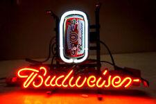 """13""""X8"""" BUDWEISER BUD LIGHT NFL NHL MLB POSTER BIKE BULL BEER NEON SIGN 100-240v"""