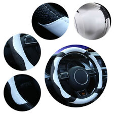 38cm Universal Leather Car Steering Wheel Cover Anti-slip Grip Accessories Soft