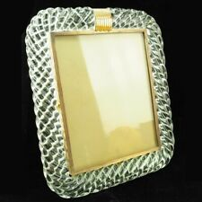 Antique Venini Murano Twisted Glass and Brass Frame 14""