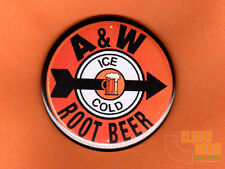 "One 2.25"" A&W root beer vintage look magnet buttons coffee fridge"