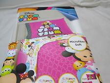 New Disney TSUM TSUM 3 piece Twin Sheet Set ~ Microfiber Soft ~ Multi Colors NIP