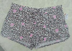 Animal Print With Hearts Sleep Shorts Size 1X NWT super soft