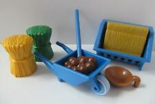 Playmobil Farm/Stables/Zoo feeding/mucking out extras: Hay rack, wheelbarrow NEW