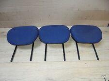 CITROEN BERLINGO 2005 MPV X3 REAR BLUE TEXTILE HEADRESTS