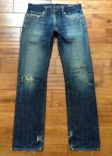 RARE! USA MADE Levis CAPITAL E Hesher Regular Straight Jeans Tag 31 ACTUAL 32x34