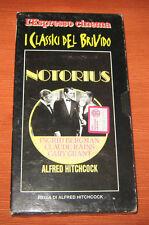 "Videocassetta/VHS/Alfred Hitchcock "" NOTORIUS "" L'Espresso"