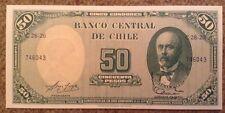Billete De Chile. 5 Centavos/50 Pesos. UNC. 1960/61